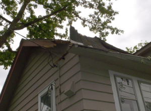damage to roof
