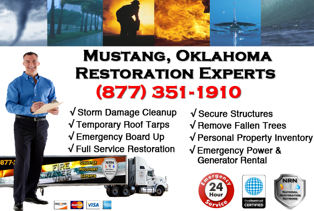 Mustang Storm Damage Cleanup